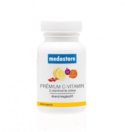 Medostore Prémium C-vitamin + D + Cink