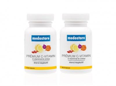 Medostore Prémium C-vitamin + D + Cink Duo